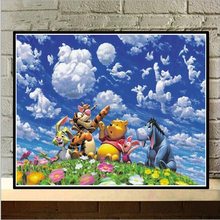 "Full Square/round 5D DIY Diamond Painting ""Winnie the Pooh"" Embroidery Cross Stitch Rhinestone Mosaic Paintings Decor NEW476"