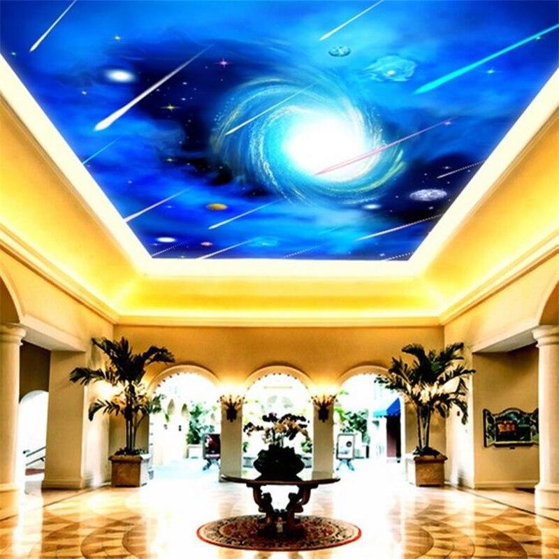 beibehang Custom wallpaper 3d high-definition starry meteor shower living room zenith 3d wallpaper mural papel de parede 3d