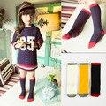 2016 хлопок дети носки мода черный красный туфли-повседневная девушки носки милый ребенок носки