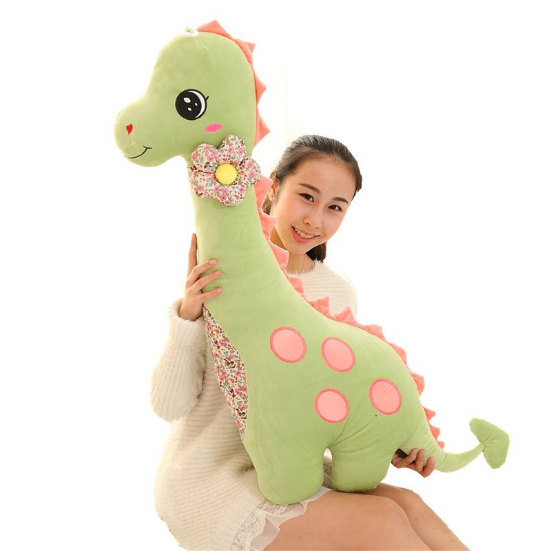 80cm  Dinosaur Plush Toy  Giant Stuffed Animal Doll Gift For Girlfriend&Children Good Quality stuffed animal 90 cm plush dolphin toy doll pink or blue colour great gift free shipping w166