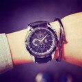 Мода Прохладный Большой Циферблат QF Бренд Спорт Ударопрочный Мягкий Резиновый Кварцевые Часы Часы Наручные Часы для Мужчин Мужской Boy Black OP001