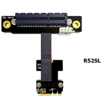 Riser M.2 wifi A.E Key To PCIe x4 Extender Adapter Card Riser Cable 5cm 80cm Gen3.0 Key A+E M2 For PCI E 3.0 1x 2x 4x 8x 16x