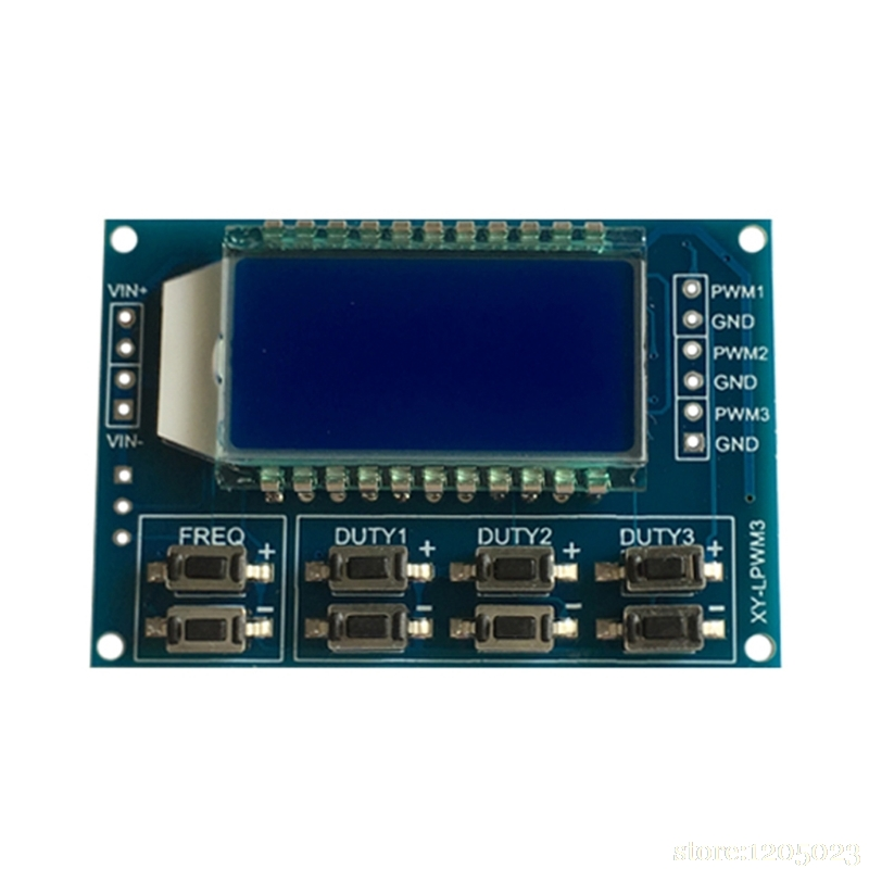 2PCS Digital  LED 2CH Unabhängig PWM Generator Duty Zyklus Pulse Frequenz Modul