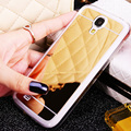 Mirror Case For Samsung Galaxy S4 Mini i9190 Phone Cases Back PC Soft TPU Silicon Gold Coque For Galaxy S4 i9500 S4 Mini i9190