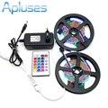 10 M SMD 3528 RGB LED Strip Set + 24Key Controlador IR + 12 V 3A fonte de Alimentação Adaptador