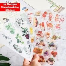 3 листа/упаковка каваи мультфильм девушки цветы кошка собака Васи бумажные наклейки украшения DIY дневник в стиле Скрапбукинг мобильный липкий канцелярские принадлежности