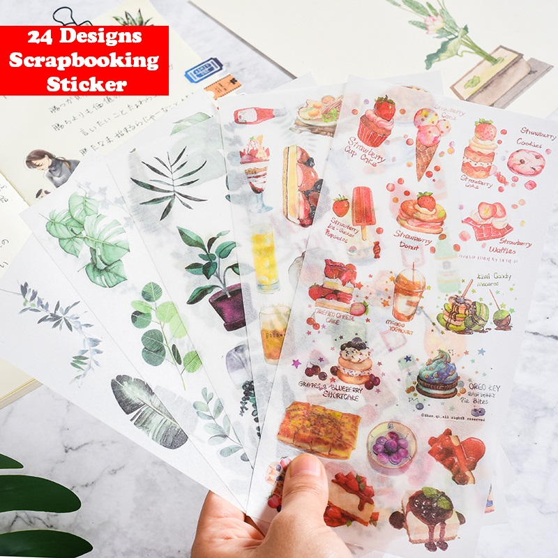3sheet/Pack Kawaii Cartoon Girls Flowers Cat Dog Washi Paper Stickers Decoration DIY Diary Scrapbooking Mobile Sticky Stationery