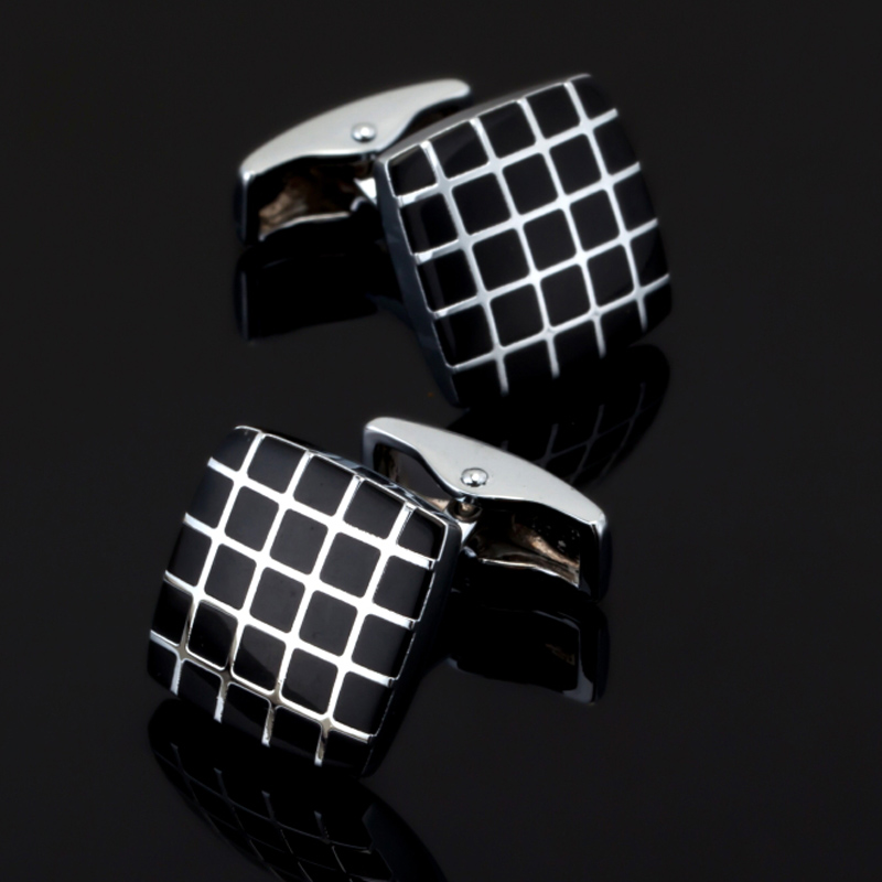 Cufflinks French Wedding-Shirt Black High-Quality Buttons. Classic Brand-New-Fashion