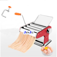 1 pc free shipping to russia SS Manual Noodle Maker tool 3 Blades Pasta Making Machine Hand Operated Spaghetti Cutter