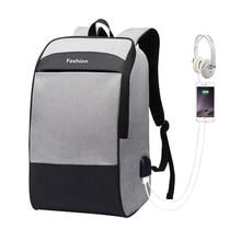 男性のラップトップリュック防止盗難バックパック 15.6 ダブル USB 大容量のバックパック防水 bagpack 男性 mochila hombre バックパック
