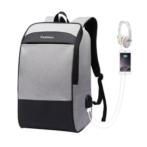 Image 1 - Men laptop backpack Anti theft backpack 15.6 Double USB large capacity backpacks waterproof bagpack men mochila hombre back pack