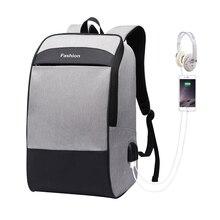 Sac à dos Anti vol, sacoche de grande capacité avec Double USB, sac à dos pour ordinateur portable pour homme, étanche pour hommes, 15.6