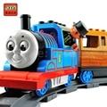 Томас И Друзья Электрический Музыка Поезд с Rainway Блоки Игрушки Детям Подарок