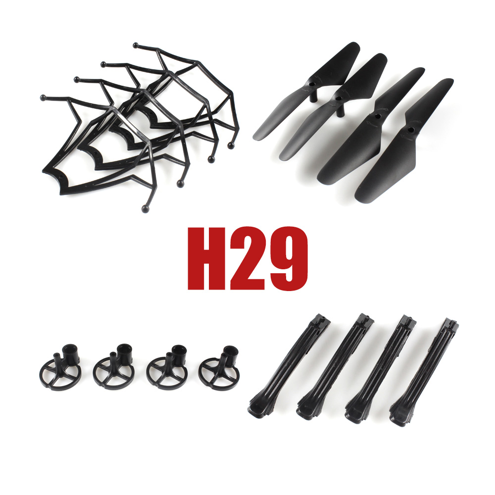 JJRC H29 H29C H29W RC Quadcopter Original Spare Part included Propellers Motor Base Landing Skid Protective Cover Parts Set