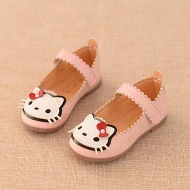 2016 осень раздел девушки shoes Корейских милые кошки принцесса shoes сухожилия в конце мода детская shoes бесплатно доставка