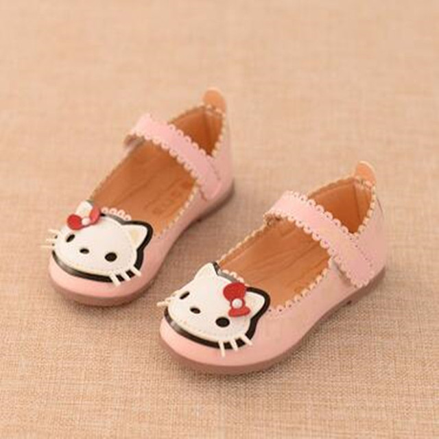 2016 autumn section girls shoes Korean cute cats princess shoes tendon at the end of fashion children's shoes free shipping