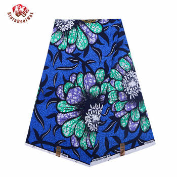 Wax Hollandais New Arrival  2018 Ankara Super Polyester Wax High Quality 6 yards  African Fabric for Party Dress pl569