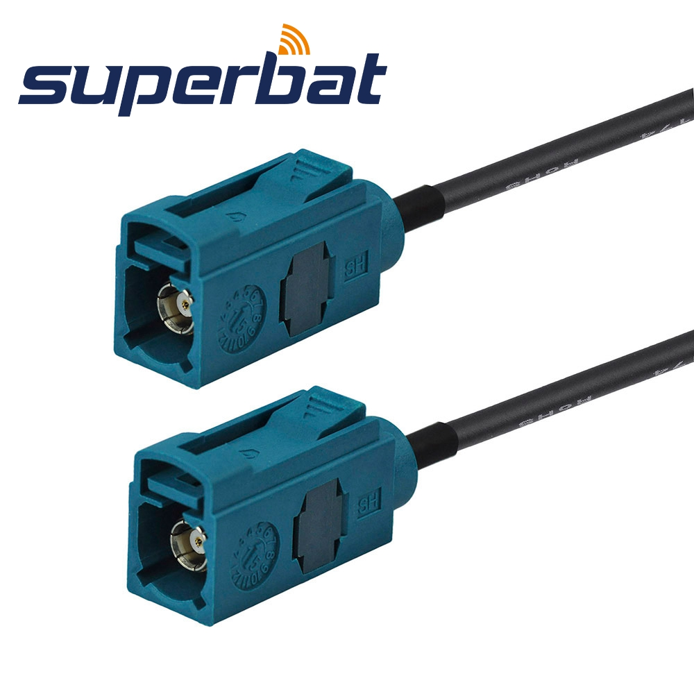 Superbat Automotive Track Boat DAB+ Radio GPS Antenna Extension Fakra Z Waterblue/5021 Female To Jack Cable RG174 BMW 200cm