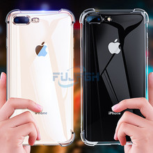 Luxury Super Shockproof 360 Clear Silicon Soft TPU Case For iPhone 7 8 6 6s Plus X XS MAX XR 5 5s SE Transparent Phone Back Case цена и фото