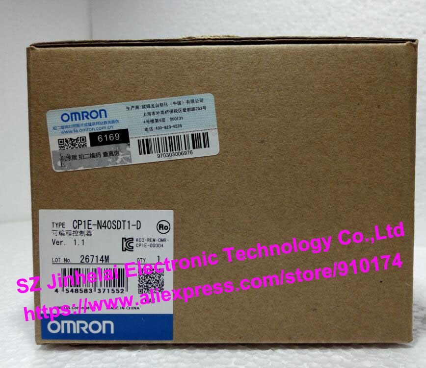 100% New and original CP1E-N40SDT1-D OMRON PLC CONTROLLER dhl eub 2pcs original for omron plc cp1e e10dt d new 15 18