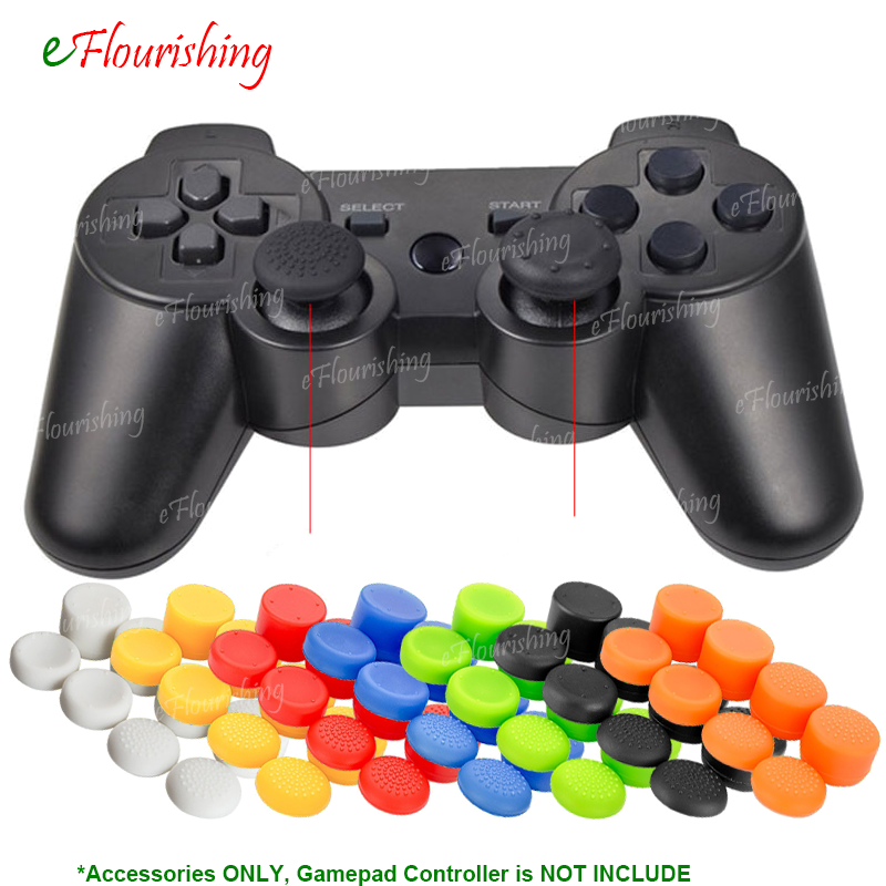8 Pcs/Lot Enhanced ThumbStick Joystick Grip Caps Cover For Sony PlayStation Dualshock 3/4 PS3 PS4 Xbox 360 Controller Gamepad for xbox one xbox 360 3d analog joystick stick module mushroom cap for sony ps4 playstation 4 ps3 controller thumbstick cover