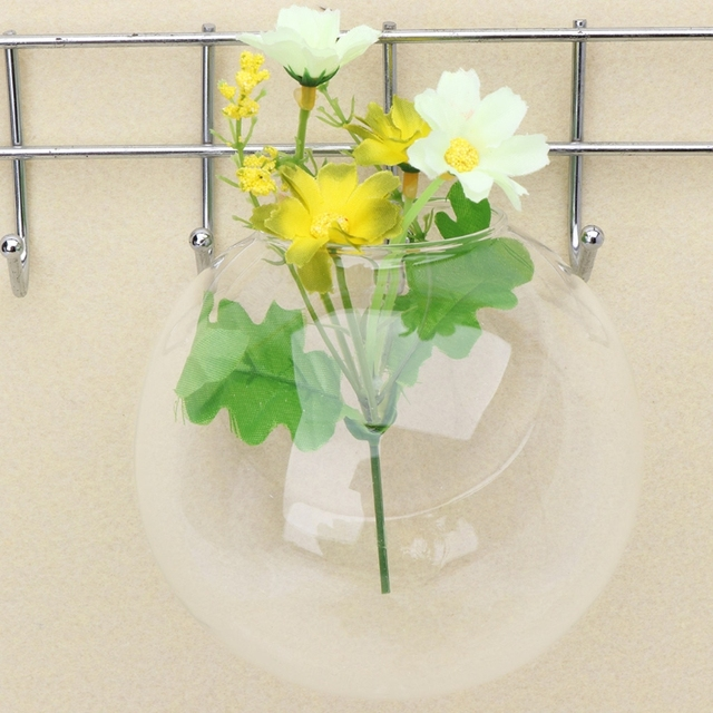 Wall Hang Glass Flower Planter Vase Terrarium Container Home Garden Decor Ball 2