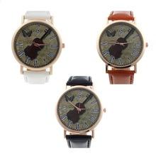 SmileOMG Unisex Violin Pattern Faux Leather Band Analog Quartz Dial Watch,Aug 26