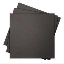 5 шт. 220 х 220 мм черный Матовый С Подогревом кровать Стикер Построить Лист сборки пластина с 3 М Поддержки для i3 Wanhao 3d-принтер
