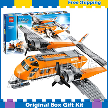 391pcs City Arctic Supply Plane New 10441 DIY Building Blocks Figures Model Children Toys Bricks Kits Compatible with Lego