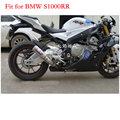 Moto echappement SC motocicleta de titânio para BMW S1000RR motocross ktm frete grátis