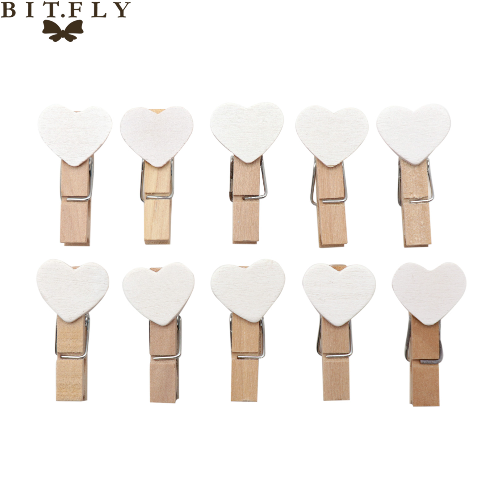 Creative Wooden Mini Heart Photo Clips Clothespin Craft Scrapbooking For DIY Home Baby Shower Birthday Wedding Party Decoration