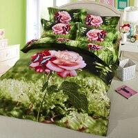 ARNIGU 3d Flower Bedding Sets Twin Queen Double Size Bedclothes Home Textile 4pcs Cotton Quilt Duvet