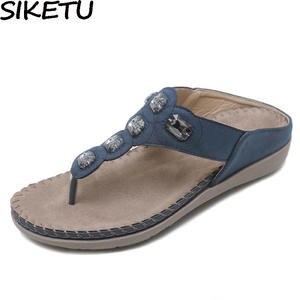 9f1ba6e8a3941a SIKETU Women Casual Crystal Shoes Summer Beach Sandals