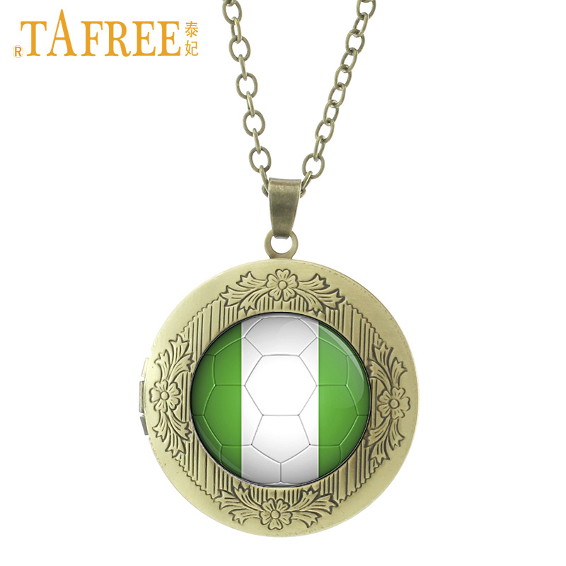 Detail Feedback Questions about TAFREE Nigeria Football Team Logo Locket  Pendant Necklace Classic Collection Gift Retro Casual Sports Souvenir Men  Jewelry ... eb0d1ba88981