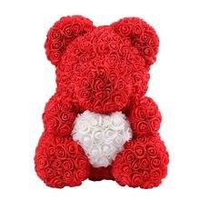 a7cdcfe688b Teddy Bear Rose Flowers 40cm 38cm 25cm Artificial Festival Birthday Wedding  Decoration Rose Bear Romantic Valentines Day Gift