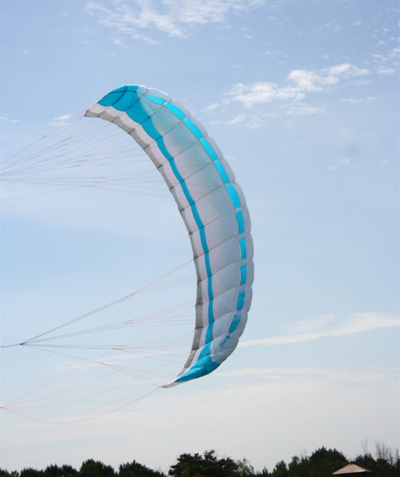 free shipping large 3.5 square meters quad line power kite parafoil kitesurfing with control bar albatross kite factory
