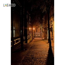 Laeacco Night City Street Building Backdrop Portrait Photography Background Customized Photographic Backdrops For Photo Studio