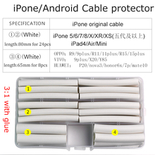 32 pcs iPhone Cable protector usb tubing wire organizer winder Heat Shrink Tube Sleeve for iPad 5 6 7 8 X XR XS