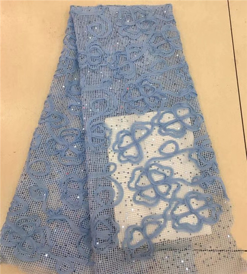 Graceful French tulle embroidery lace fabric  african net lace textile with sequinsGraceful French tulle embroidery lace fabric  african net lace textile with sequins