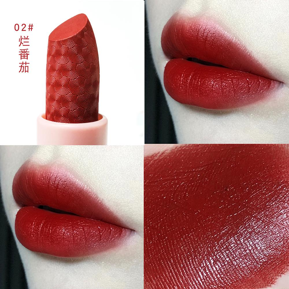 MARC BUSE matte lipstick set 3pcs warm color nude orange red soft pigment cream waterproof long lasting matte lipstick MA037(China)