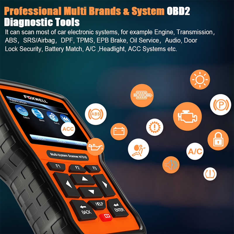 FOXWELL NT510 For BMW OBD2 Scanner f30 e46 e39 e60 e90 e36 OBD 2 for MINI  Rolls-Royce OBD OBD II Diagnostic Scanner Tool