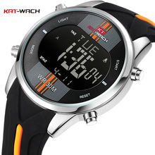 KAT-WACH Fashion Brand Watches Men Sports Watches Waterproof LED Digital Quartz Men Military Wrist Watch Clock Relogio Masculino weide fashion led digital quartz watches men military sports watch week display male wrist watches time clock relogio masculino