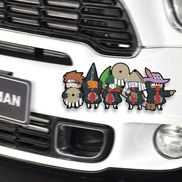 1pcs car cartoon sticker anime naruto vinyl decal funny sticker auto