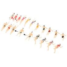 20 peças n balança 1:150 pintados modelo figuras pessoas nadador