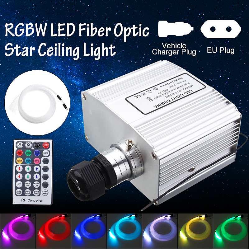 Remote LED Fiber Optic Star Ceiling Lights Kit 10W RGBW Remote Control Electrical Tools Light Engine