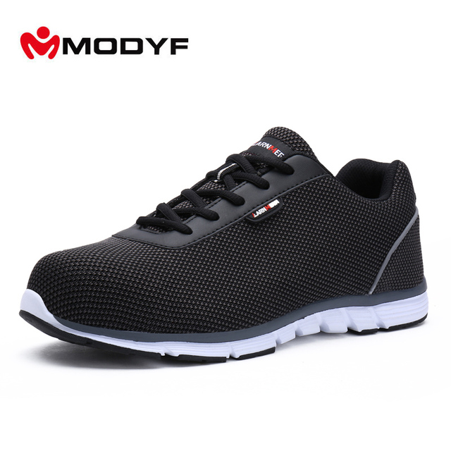 MODYF Women Safety Steel Toe Work Shoes Lightweight Breathable Casual  sneaker 1d013e02c7