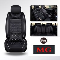 Auto Premium Quilted Stitched Leather Universal Car Seat Chair Pad Covers For Mg Mg3 Gs Gt Mg6 Mg5 Mg3sw Mg7 Mgtf