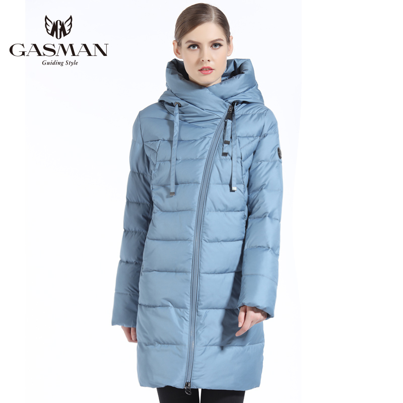 Gasman 2019 Nieuwe Vrouwen Winterjas Jas Ongedwongen Winter Gewatteerde Jas Lange Stijl Kap Slanke Parka Dikker Bovenkleding Jas Plus size