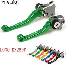 Alavanca de freio dobrável, pivot, dirt bike, alavanca de embreagem do freio para kawasaki kx250f kxf 250 2005 2006 2007 2008 2011 2012