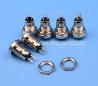 100Pcs High Quality 8mm Mini Metal Momentary 1NO 2Pin Push Button Switch 0 5A 250VAC